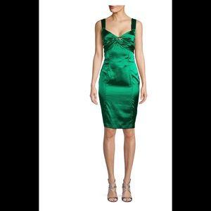 Roberto Cavalli Satin Fitted Dress